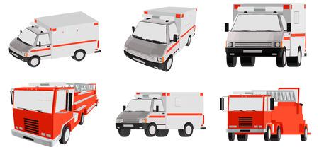 ambulancia: ambulancia, coche especial Vectores