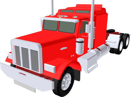 camioneta pick up: camión rojo