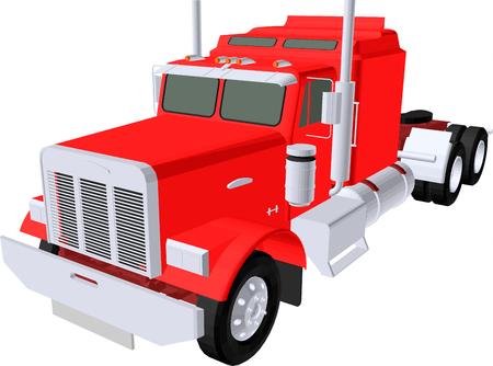 transport truck: red truck
