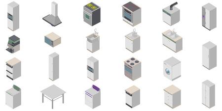 refrigerator kitchen: Kitchen icons