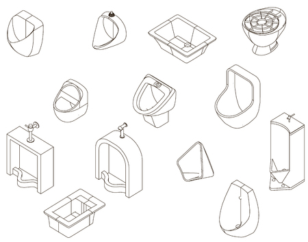 urinal: Icons urinal