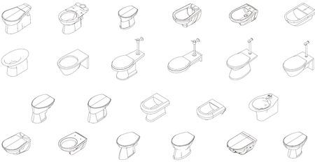 bidet: Icons bidet