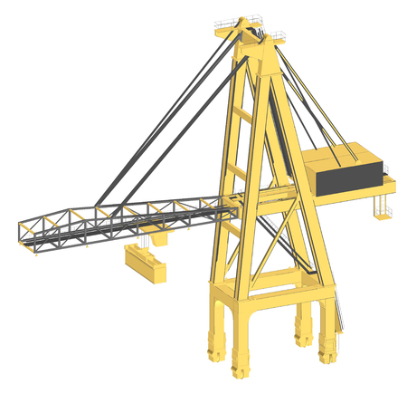 distribution picking up: container crane