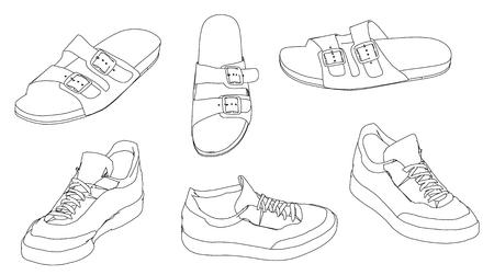 sandalias: zapatos de las sandalias