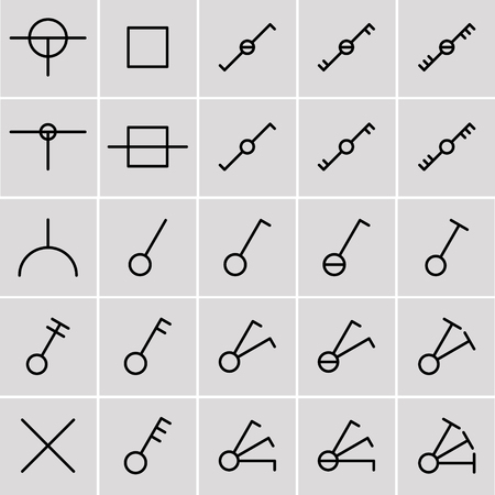 electrical symbols: icons switches, electrical symbols