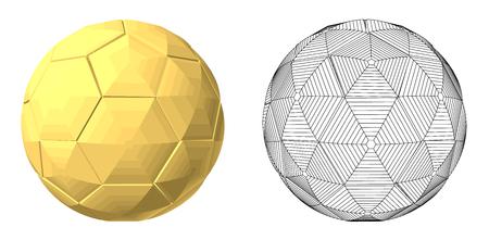 soccer: soccer ball gold