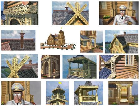 log house: log house Russia