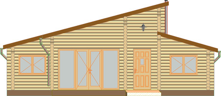 log: log house facade Illustration