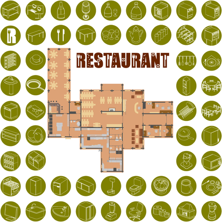 design drawing: Bar Restaurant Icons
