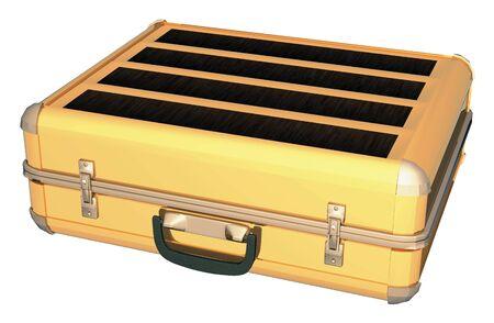 aluminum: Gold aluminum case Stock Photo