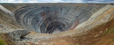 Career kimberlite pipe Mir, Yakutia