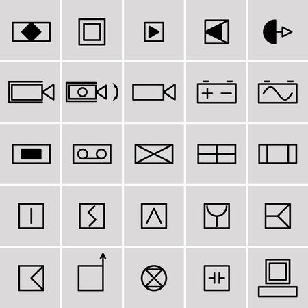electrical symbols: icons electrical symbols