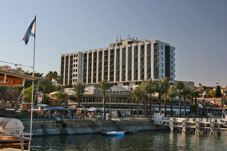 features: Tiberias, Israel - January 20, 2014: Tourism and Hotels in Tiberias