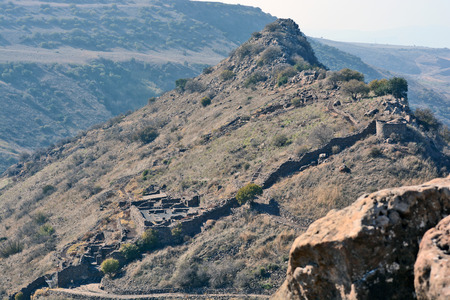 golan: Israeli national park Gamla fortress at the Golan Hights