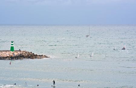 siervo: surfing and kiting in sredizenom sea off Tel Aviv