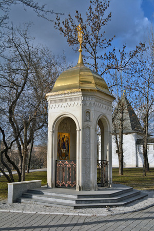 spassky: Moscow, Russia - March 1, 2014: Andronikov Monastery Editorial