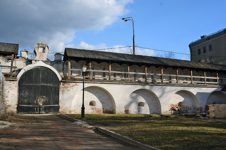 spassky: Moscow, Russia - March 1, 2014: Andronikov Monastery, old gate