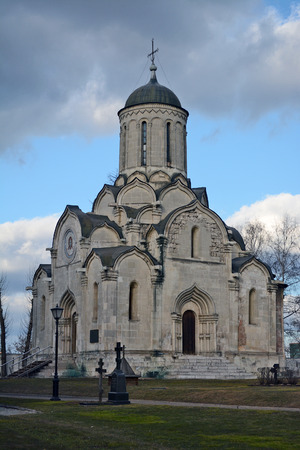spassky: Moscow, Russia - March 1, 2014: Andronikov Monastery, Saviour Cathedral Editorial