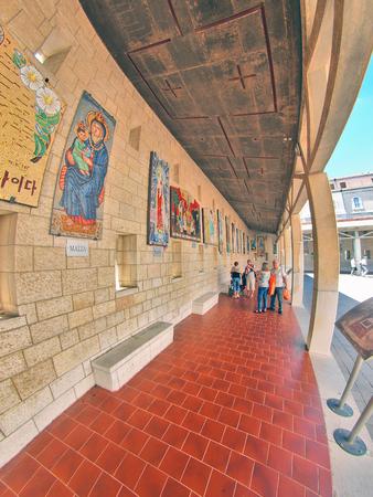 nazareth: NAZARETH, ISRAEL - January 1, 2008: Basilica of the Annunciation in Nazareth on January 1, 2008, Israel