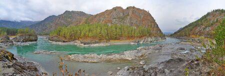 chemal: Katun river, Altai mountains, Siberia, Russia Stock Photo