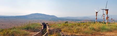 golan: Wind generators in the Golan Heights, Israel