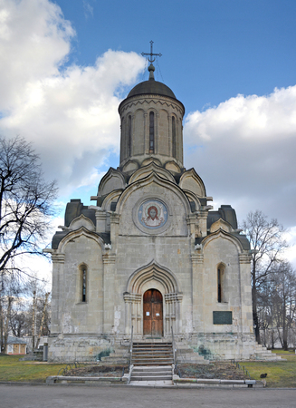 spassky: Moscow, Russia - March 11, 2014: Andronikov Monastery, Saviour Cathedral