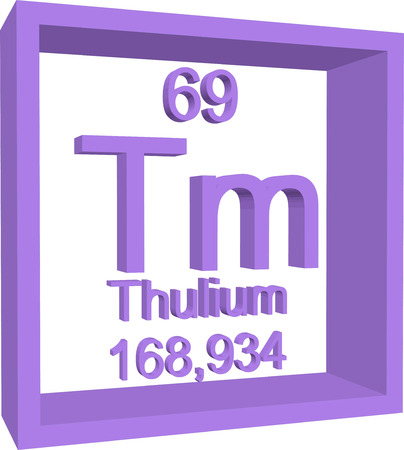 atomic number: Periodic Table of Elements - Thulium Illustration