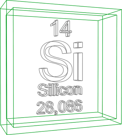 periodic table of the elements: Periodic Table of Elements - Silicon Illustration