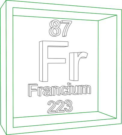 periodic table: Periodic Table of Elements - Francium Illustration