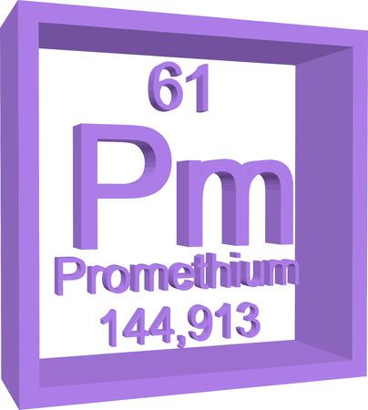 periodic table: Periodic Table of Elements - Promethium Illustration