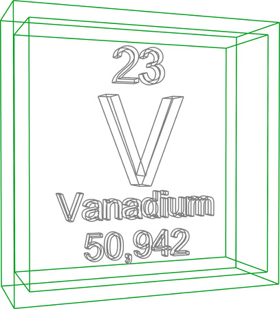 Periodic table of elements vanadium royalty free cliparts vectors periodic table of elements vanadium vector urtaz Choice Image