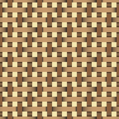 wood craft: wicker seamless pattern