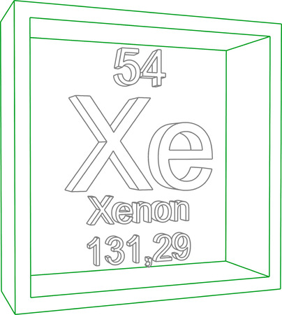 periodic table: Periodic Table of Elements - Xenon Illustration