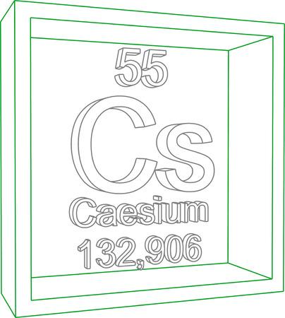 caesium: Periodic Table of Elements - Caesium