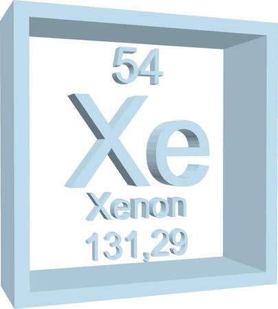 periodic: Periodic Table of Elements - Xenon Illustration