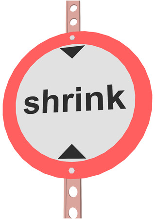 shrink: road sign with the text shrink
