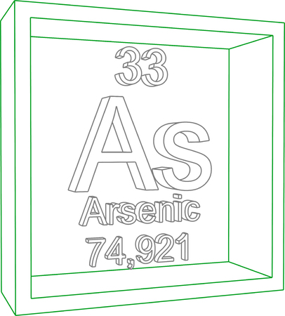 arsenic: Periodic Table of Elements - Arsenic Illustration