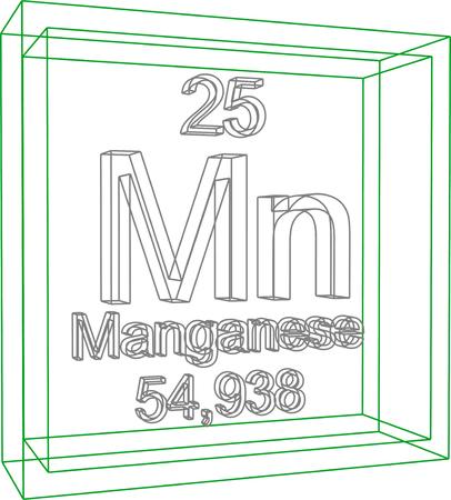 periodic: Periodic Table of Elements - Manganese Illustration