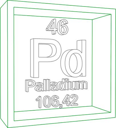 periodic table: Periodic Table of Elements - Palladium