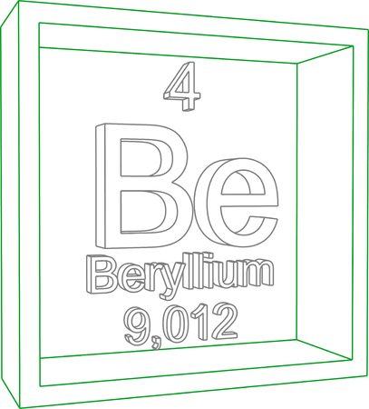 Beryllium symbolemical element of the periodic table on a 57967462 periodic table of elements beryllium urtaz