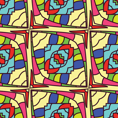 roman catholic: seamless color pattern of stained glass