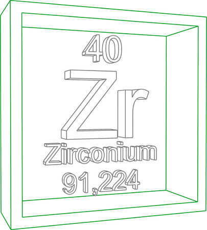 periodic table: Periodic Table of Elements - Zirconium Illustration