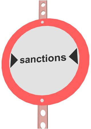 diplomatic: road sign with the text SANCTIONS