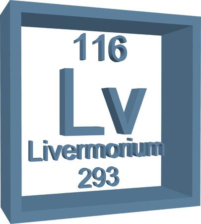 periodic: Periodic Table of Elements - Livermorium