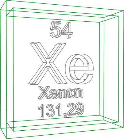 Tabla peridica de los elementos torio ilustraciones vectoriales tabla peridica de los elementos xenon urtaz Image collections