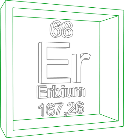 periodic table of the elements: Periodic Table of Elements - Erbium Illustration