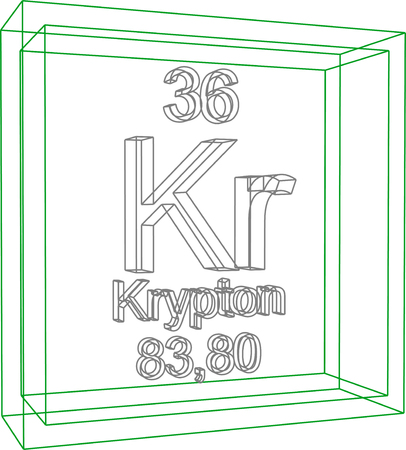 periodic table of the elements: Periodic Table of Elements - Krypton