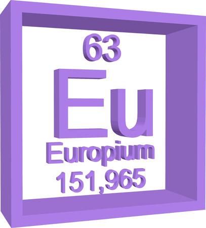 periodic: Periodic Table of Elements - Europium Illustration