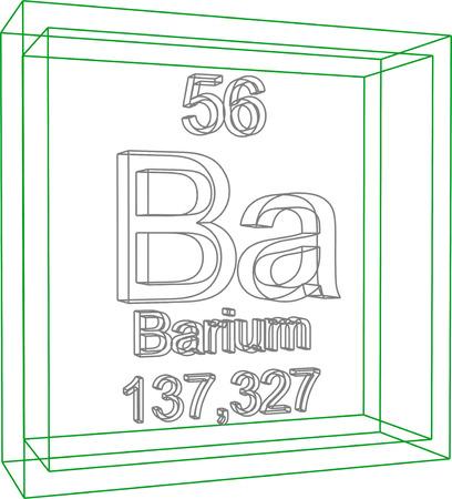 barium: Periodic Table of Elements - Barium Illustration