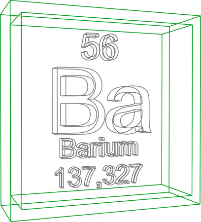 Periodic Table of Elements - Barium Illustration